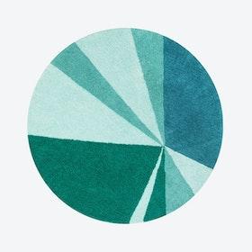 Washable Rug Geometric Emerald