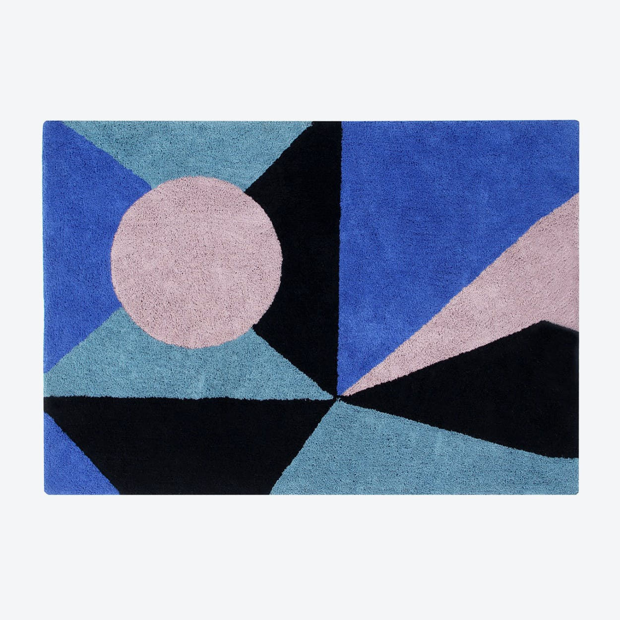 Washable Rug Geometric Frame
