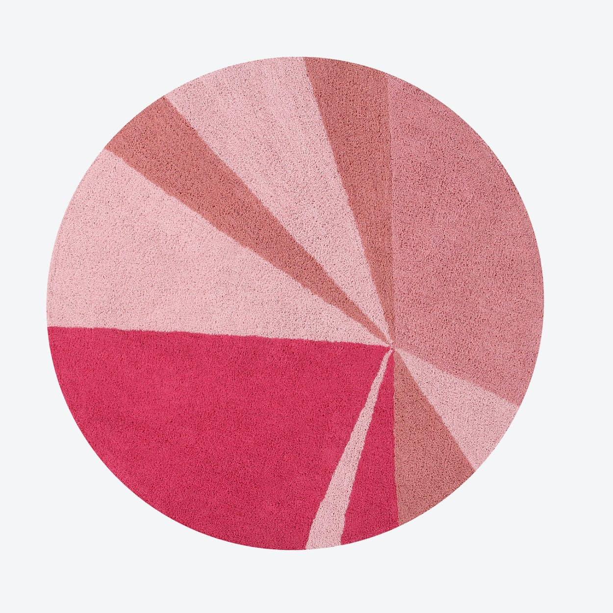 Washable Rug Geometric Pink
