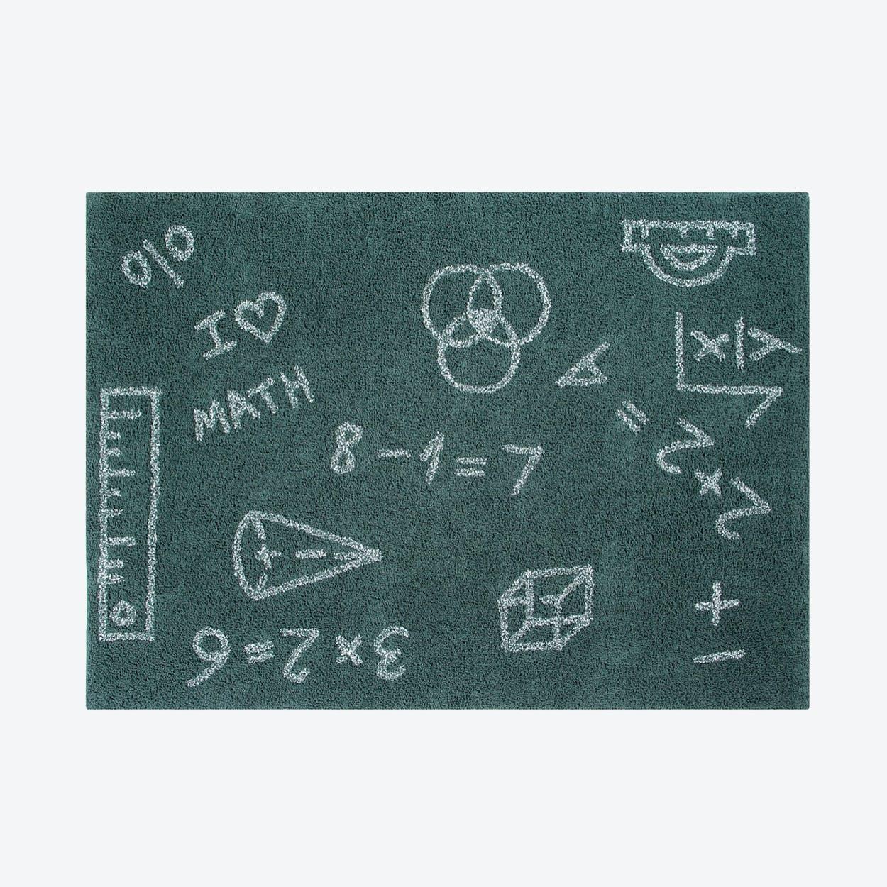 Washable Rug I Love Math