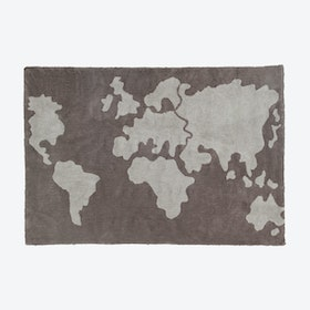 Washable Rug World Map