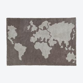 Washable Rug World Map