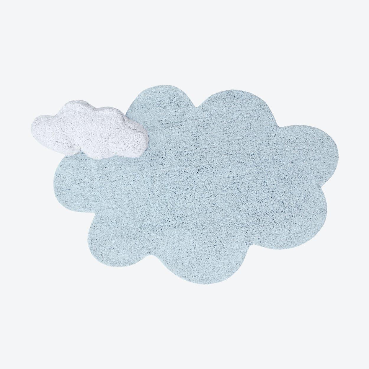 Washable Rug Puffy Dream Blue