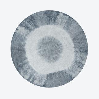 Washable Rug Tie-Dye Vintage Blue