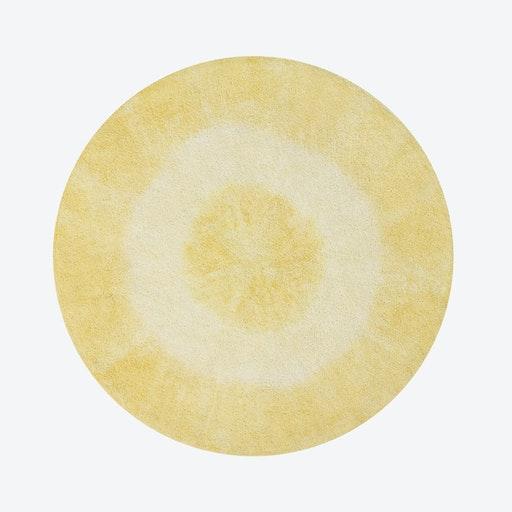 Washable Rug Tie-Dye Yellow