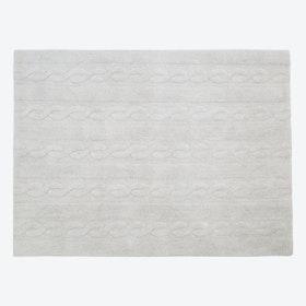 Washable Rug Braids Pearl Grey