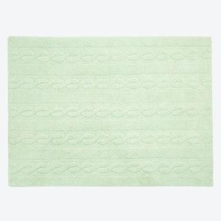 Washable Rug Braids Soft Mint
