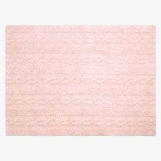 Washable Rug Braids Soft Pink