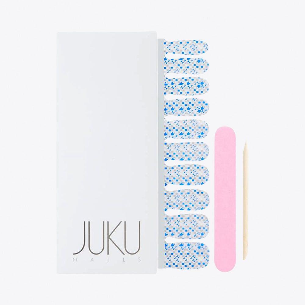 Blue Confetti Print Nail Wraps