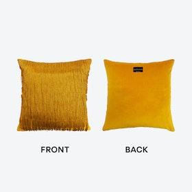 Tassel Cushion in Ochre