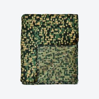 Camo Throw in Black / Tan / Green