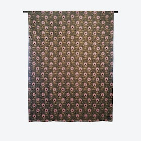 Flora Throw in Black / Tan / Pink