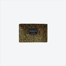 Small Pixel Camo Zip Pouch in Black / Ochre / Green