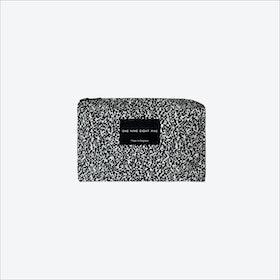Small Pixel Mono Zip Pouch in Black / White