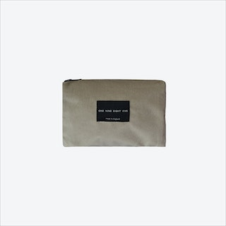 Small Zip Pouch in Taupe