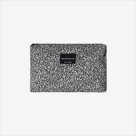Large Pixel Mono Zip Pouch in Black / White