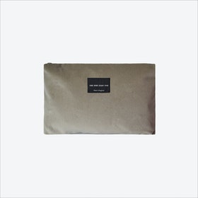 Large Zip Pouch in Taupe