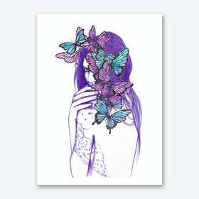 Amongst Butterflies Art Print