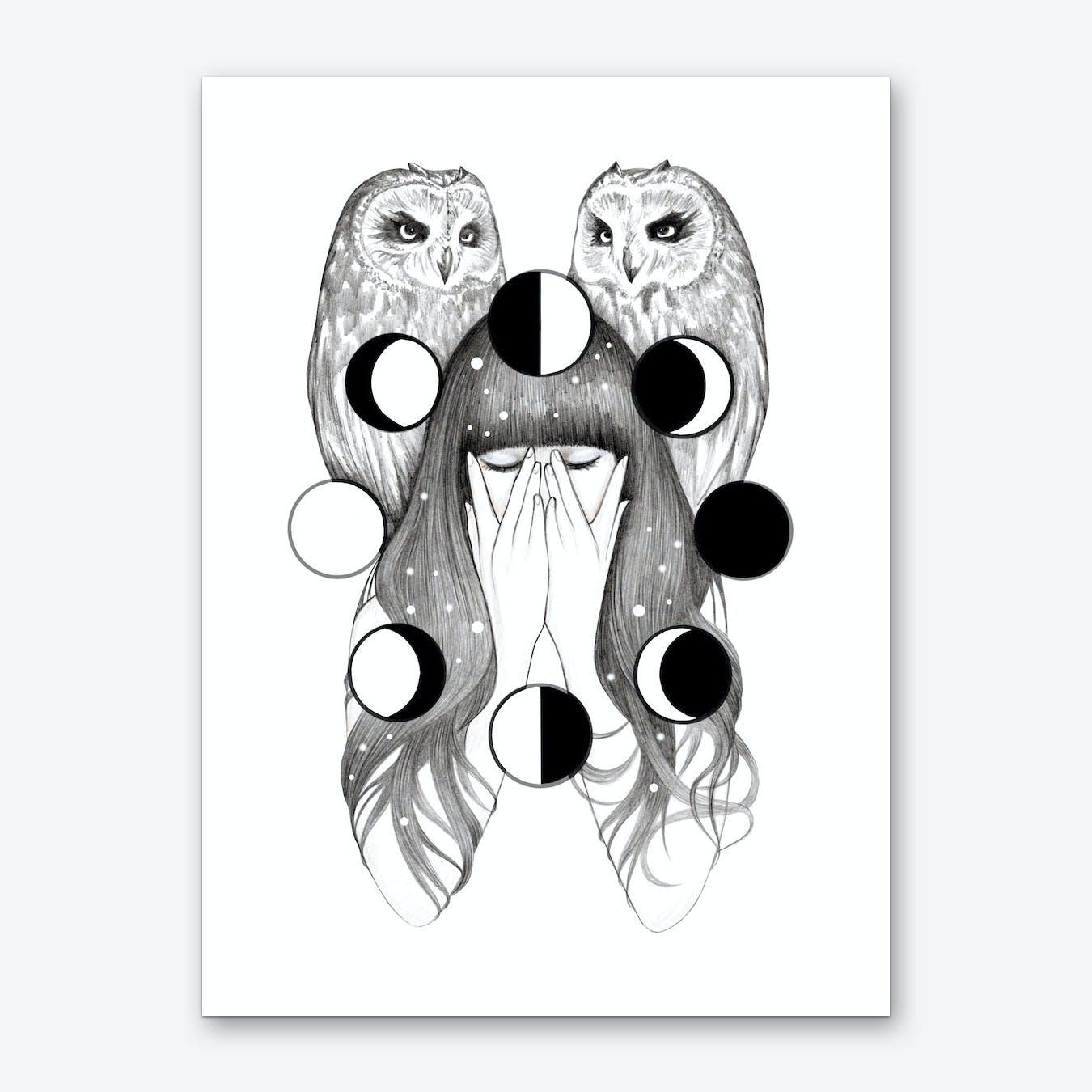Moon Spells Art Print
