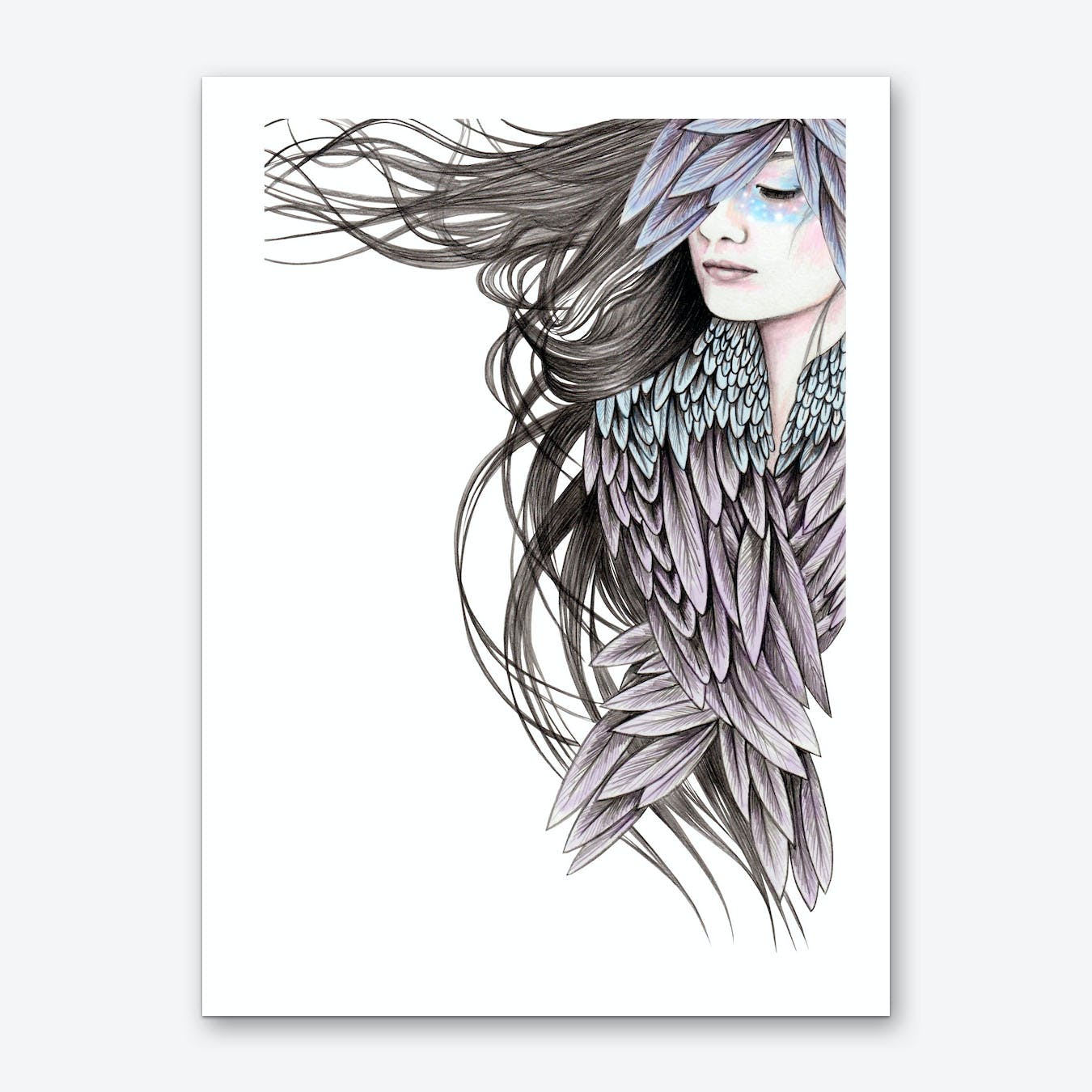 Raven Wings Art Print