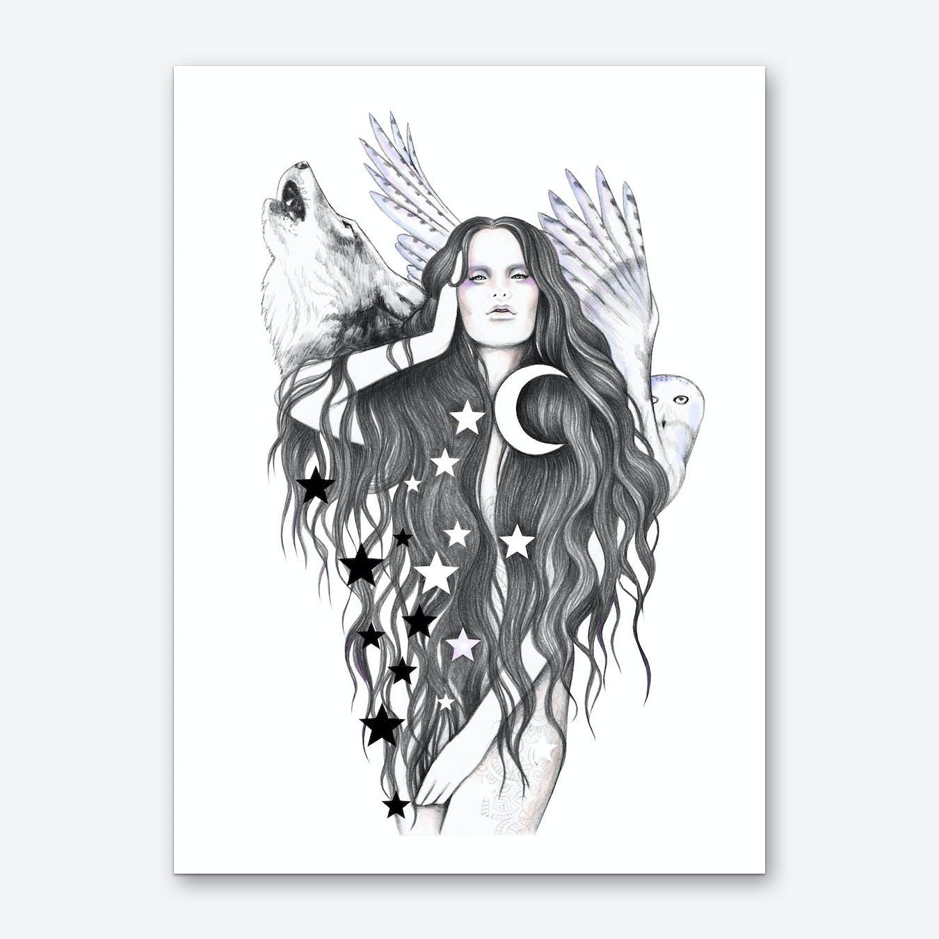 Moon Witch Art Print
