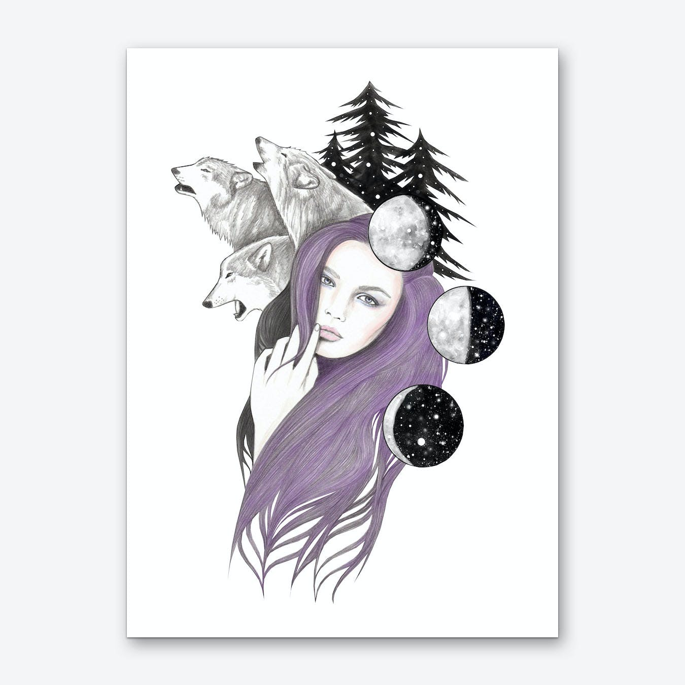 Three Moons Art Print