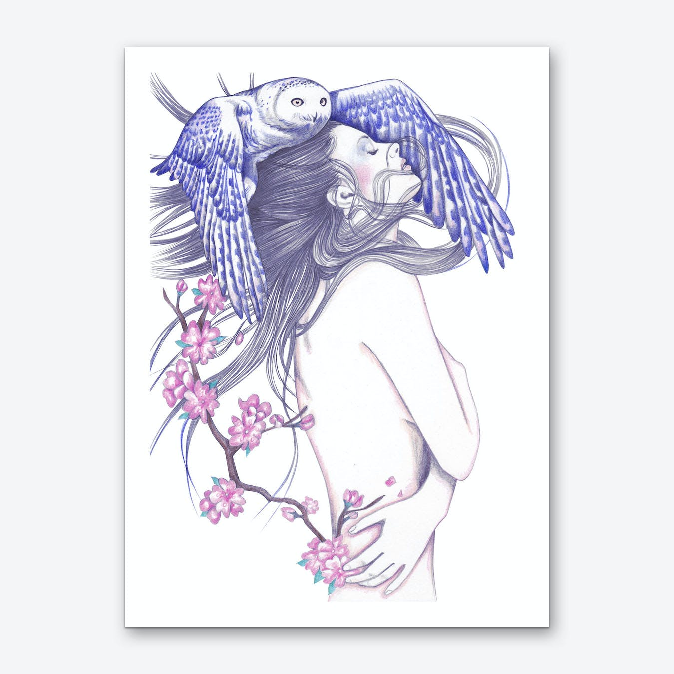 Blue Wind Art Print