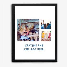 Framed Photo Collage Kids Print