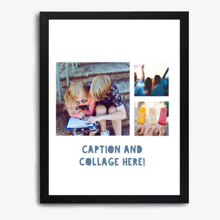 Framed Photo Collage Kids Print