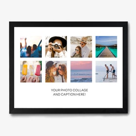 Framed Caption Photo Collage Print