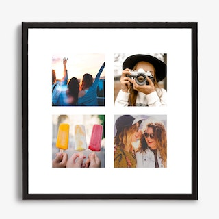 Framed Square Photo Collage Print