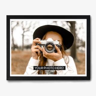 Framed Caption Photo Landscape Print