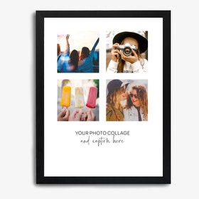 Framed Caption Photo Collage Portrait Print