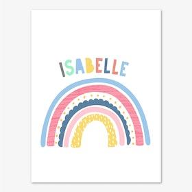 Rainbow Name Pink Print