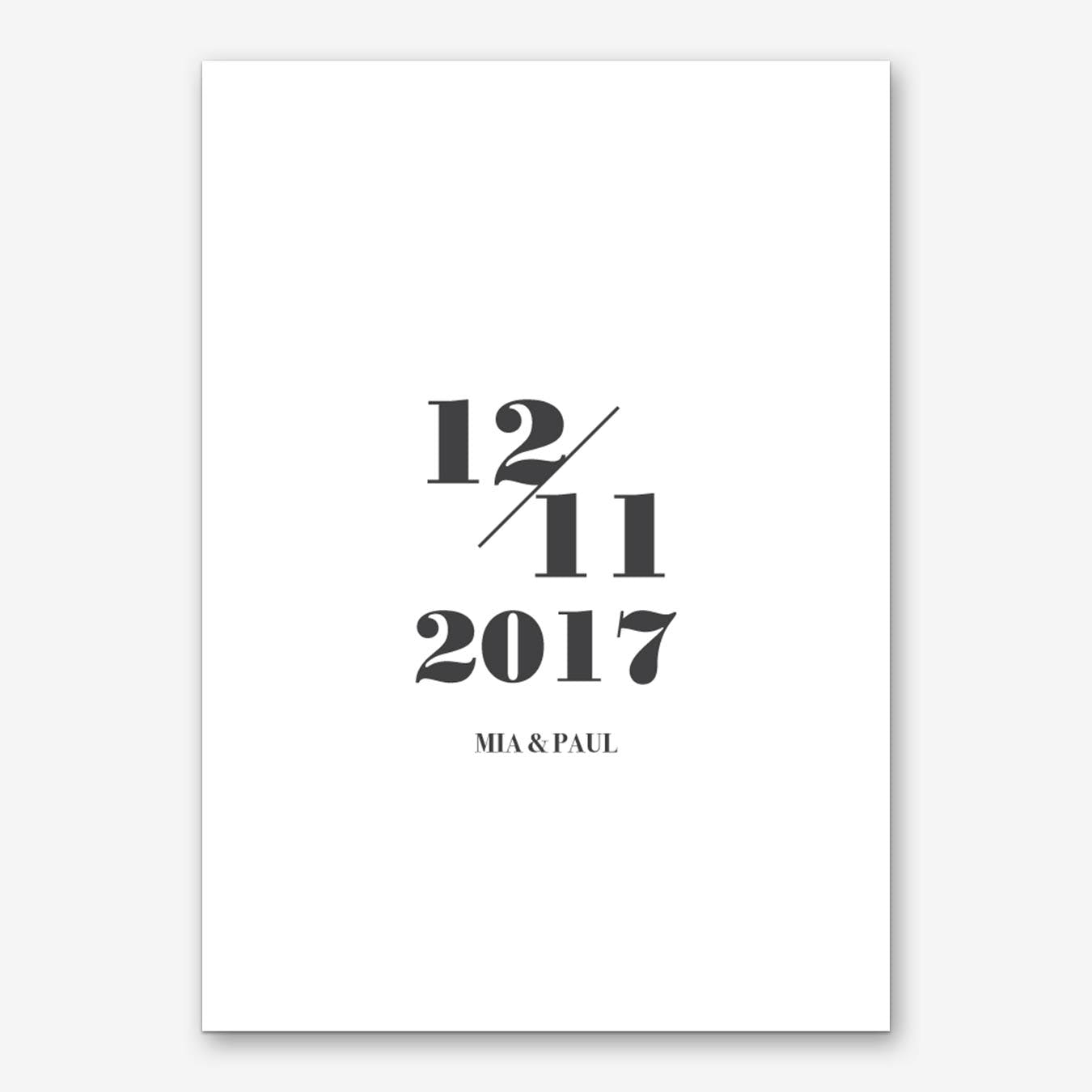 Your Special Date 2 Personalised Art Print