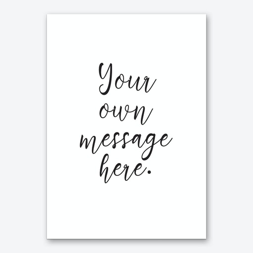 Cute Script Font Personalised Art Print
