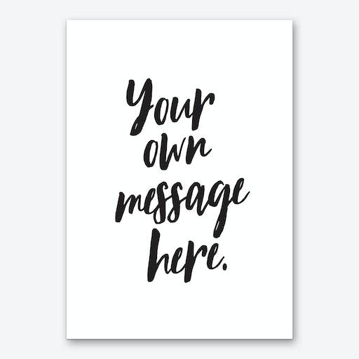 Marker Font Personalised Art Print