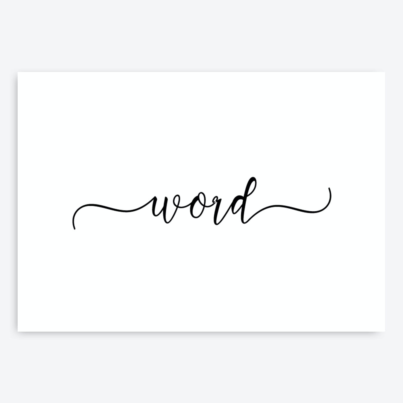 Wide Word Personalised Art Print