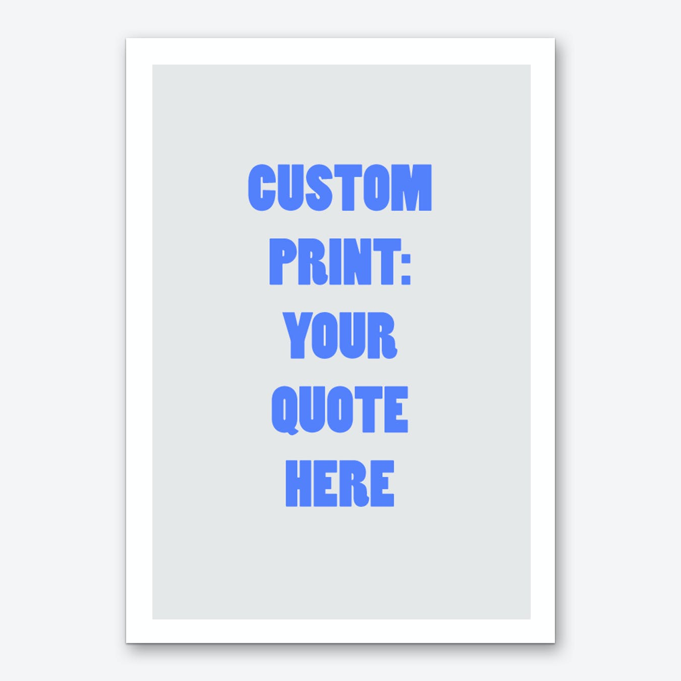 Blue And Off White Personalised Art Print
