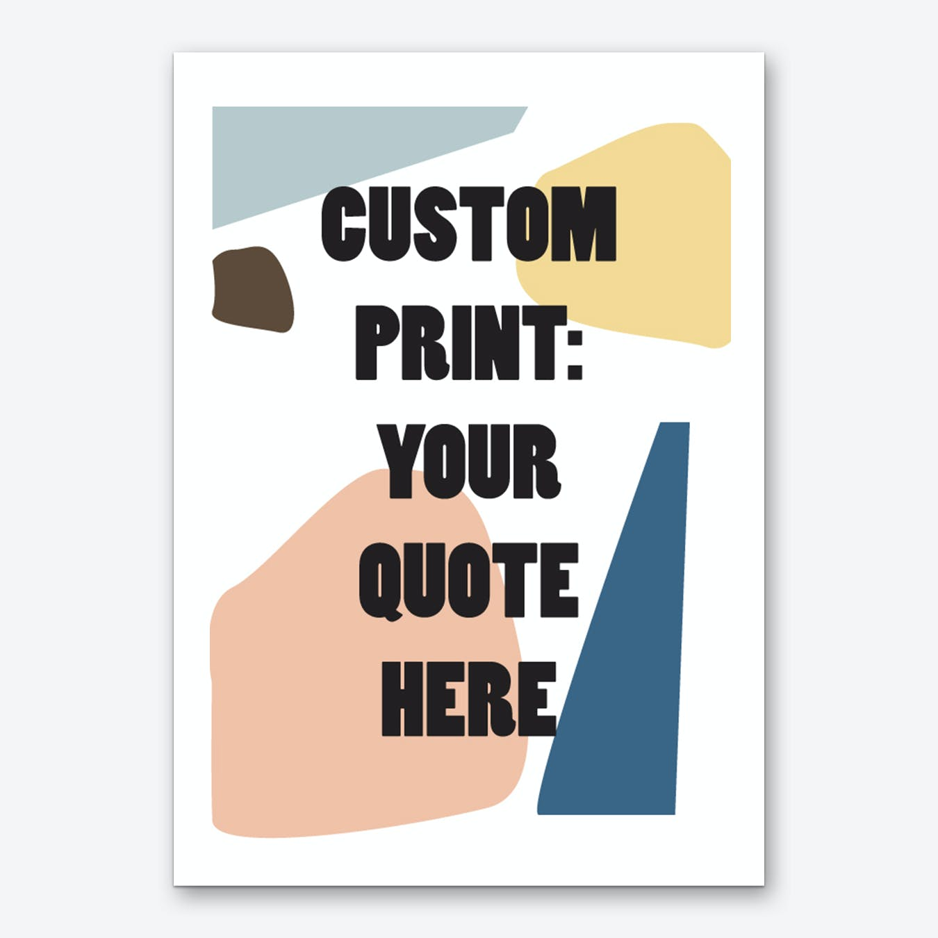 Cut Out Colors Personalised Art Print