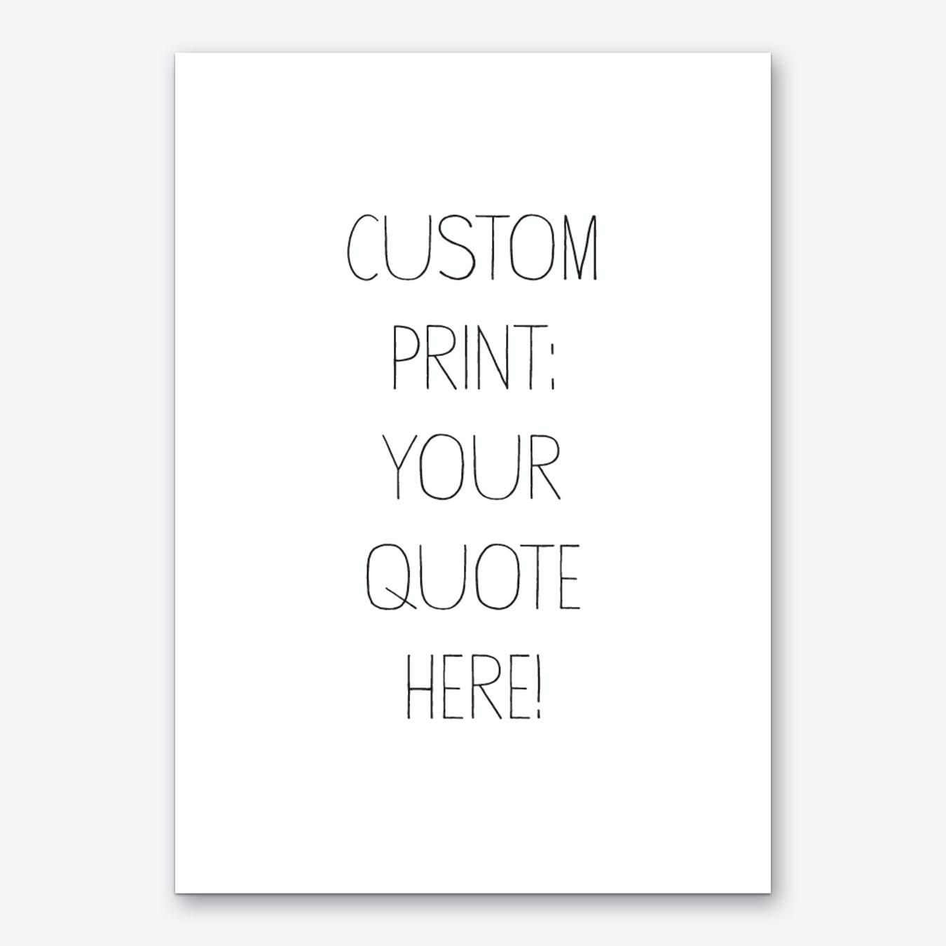 Kids Font Personalised Art Print