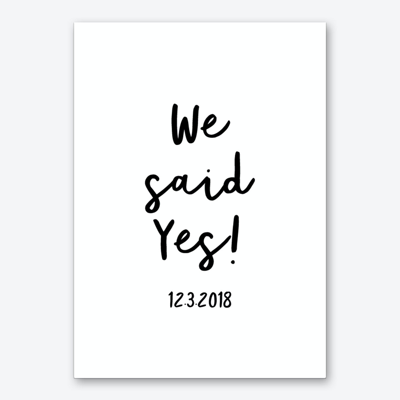 We Said Yes Personalised Art Print