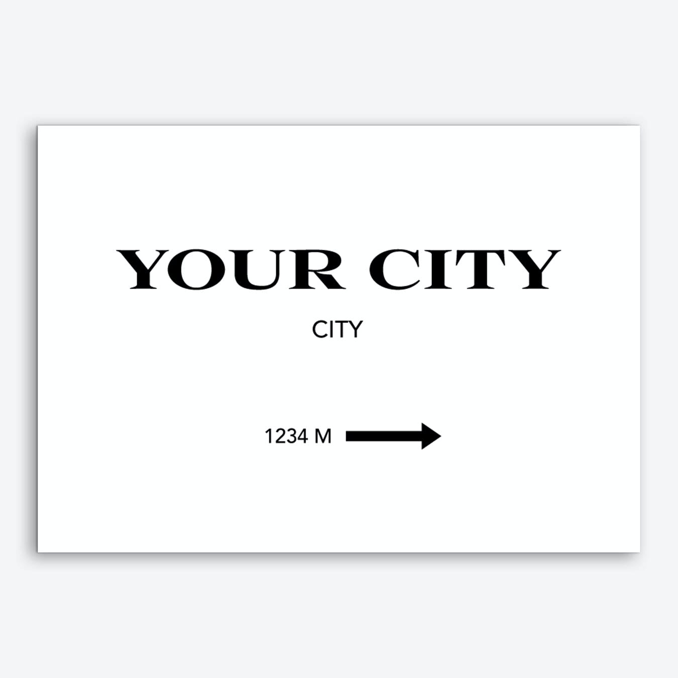 Your City Sign Personalised Art Print
