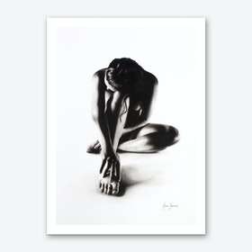 Nude Woman Charcoal Study 41 Art Print