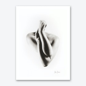 Nude Woman Charcoal Study 55 Art Print