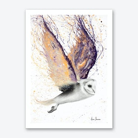 Opal Winged Owl Art Print