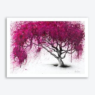 Pink Plum Park Art Print