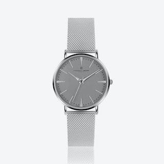 Silver Eiger Watch w/ Silver Mesh Strap