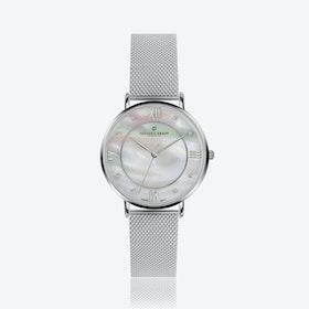 Silver Liskamm Watch w/ Silver Mesh Strap