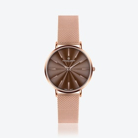 Rose Monte Rosa Watch w/ Rose Gold Mesh Strap